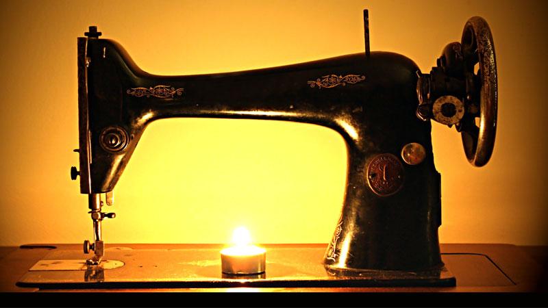 neccessaria correzione con macchina da cucire