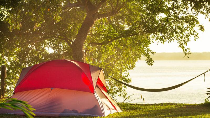 vacanza in tenda da campeggio
